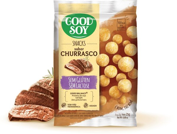 SNACKS DE SOJA CHURRASCO GOOD SOY 25g