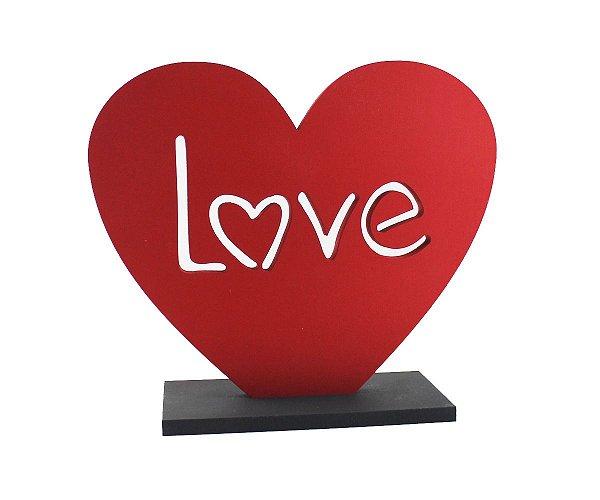 ENFEITE DE MESA  CORACAO LOVE P 14X16