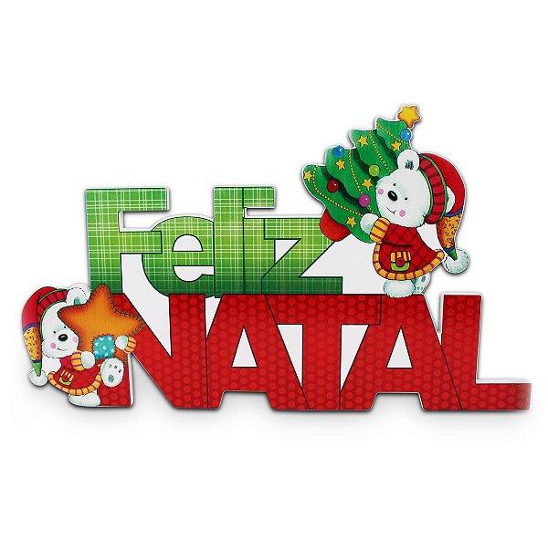 PLACA DE MADEIRA - FELIZ NATAL