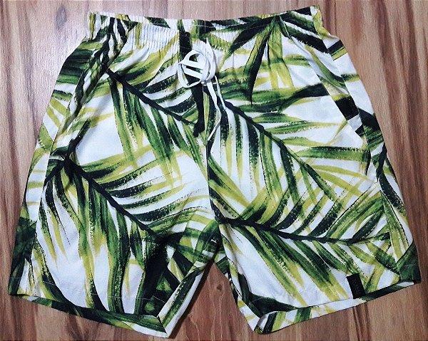 Short Tactel Folhas de Palmeira
