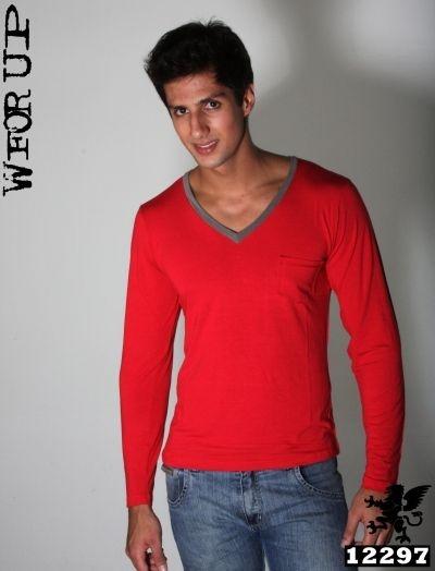 Camisa Manga Longa Gola V