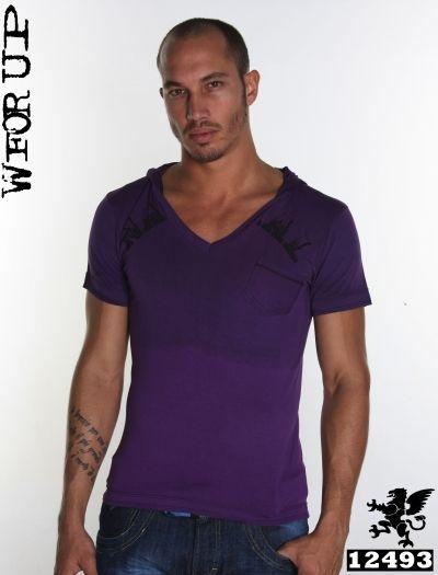 Camisa Gola V com Capuz