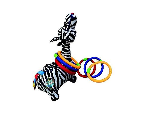 Zebra De Montar Com Arcos Em  Fibra Siliconada