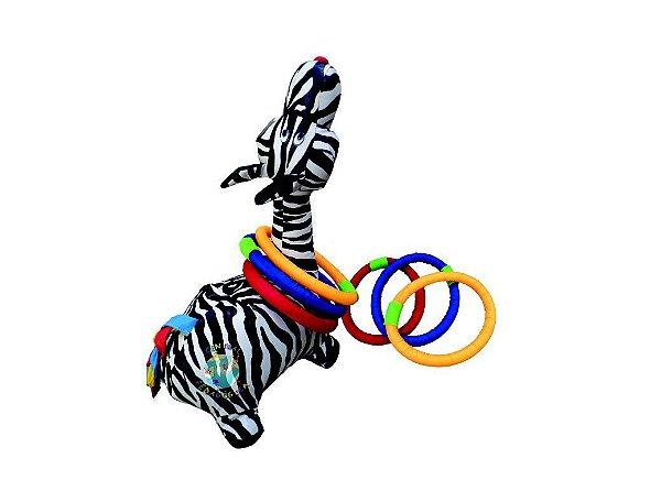 Zebra De Montar Com Arcos Em  Fibra Siliconada idade 3 +