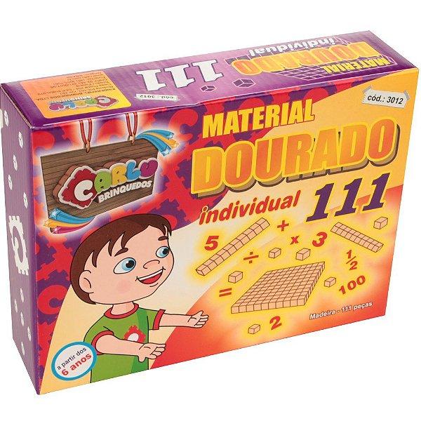 Brinquedo Educativo Material Dourado Individual