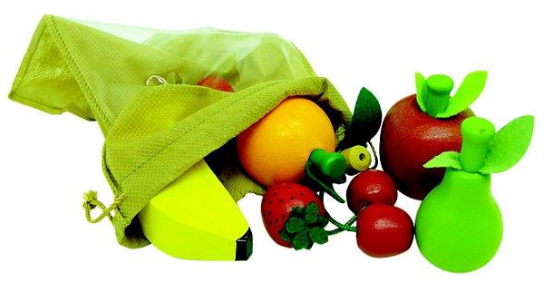 Brinquedo de Madeira Coleção Comidinhas Kit Frutinhas NewArt