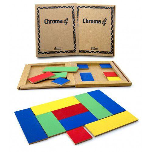 Chroma 4 - Jogo de Tabuleiro de madeira