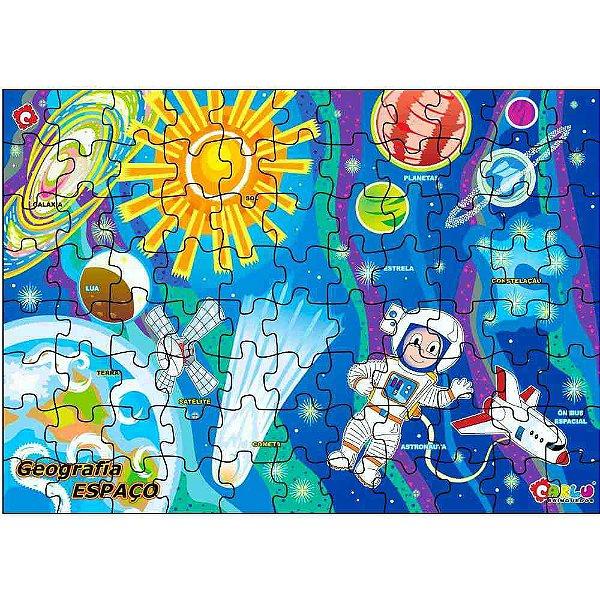 Jogo Quebra-Cabeça Geografia Espaço Cósmico Em Mdf - Carlu