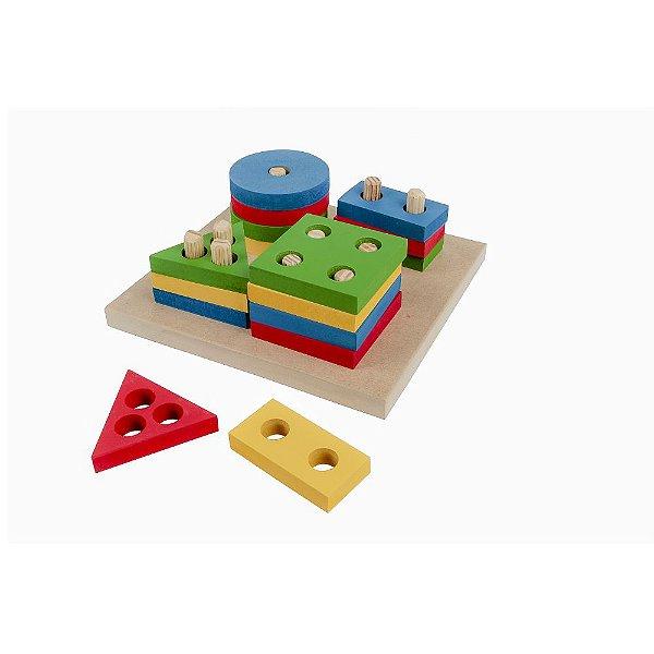 Brinquedo Pedagógico - Prancha de Seleção Colorida  Carlu