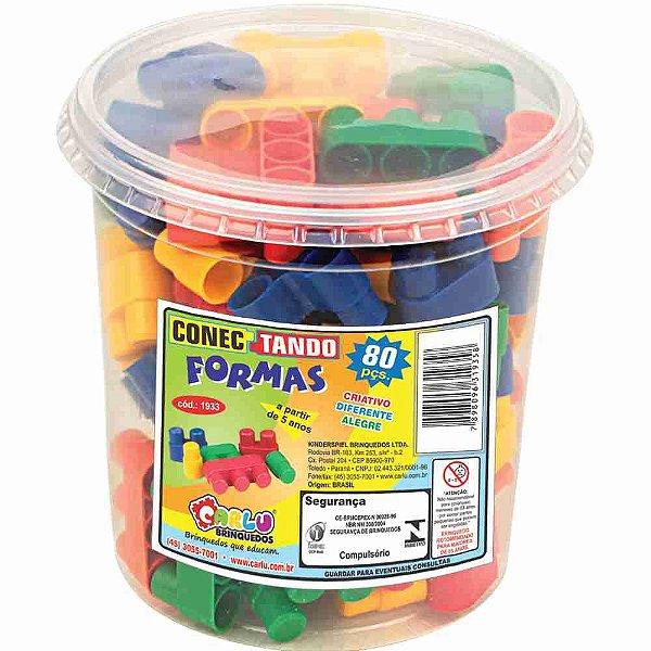 Brinquedo Pedagógico - Conectando Formas - 80 Peças