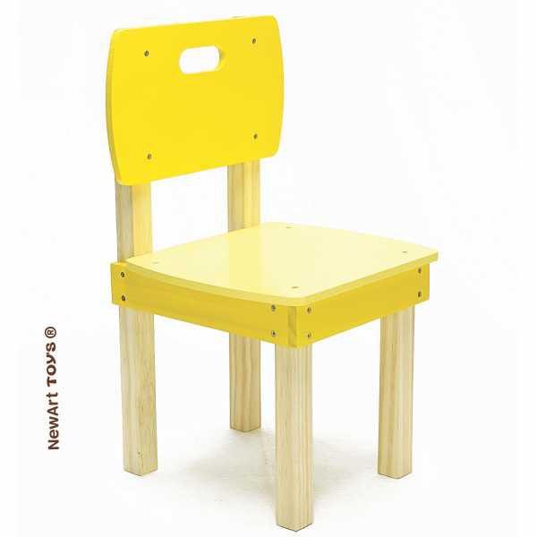 Cadeira de madeira Quadrada Amarela NewArt
