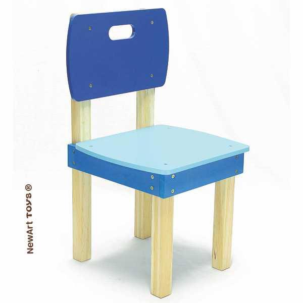Cadeira de madeira Quadrada Azul NewArt