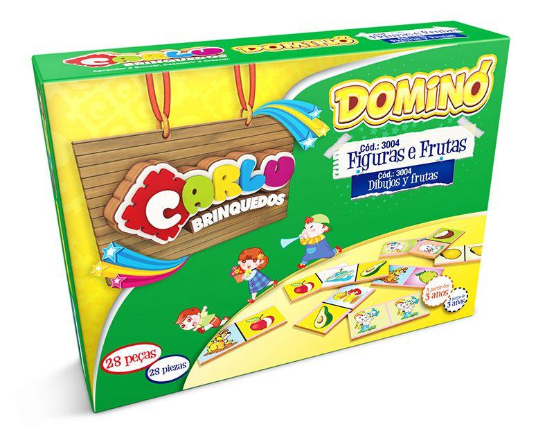 Brinquedo Educativo  Dominó infantil Frutas