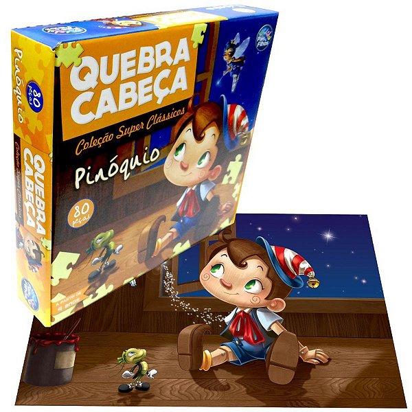 Quebra-cabeça Pinóquio 80 Peças - Pais E Filhos