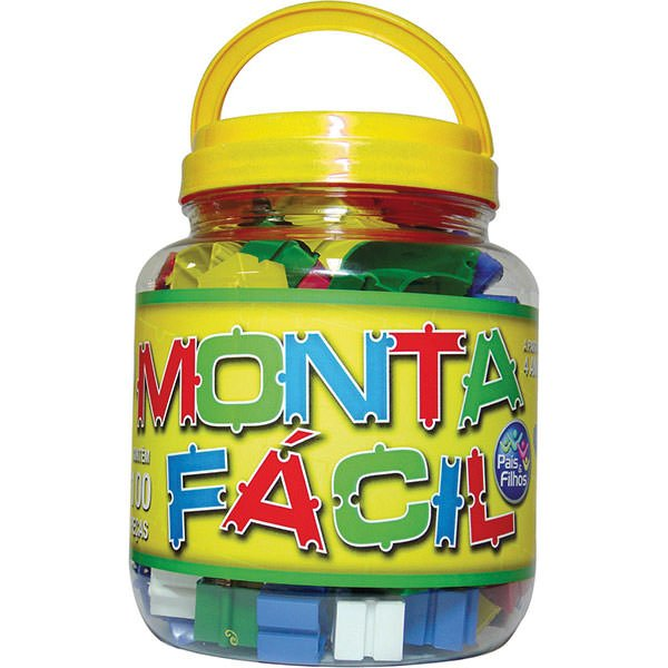 Brinquedo Para Montar Monta Fácil 100 Peças - Pais E Filhos