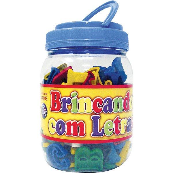 Brinquedo Pedagógico Brincando Com Letras Pote 173 peças - Pais E Filhos