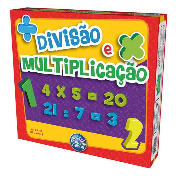 Jogo Divisão E Multiplicação Brinquedo Pedagógico - Pais E Filhos