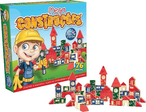 Brinquedo Para Montar Mega Construções 76 Peças - Pais E Filhos