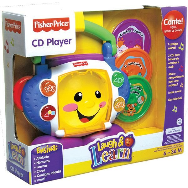 Cd Player Aprender E Brincar - Fisher-Price