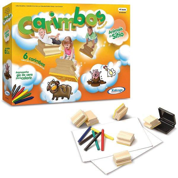 Carimbo Pedagógico Animais Do Sítio - Xalingo