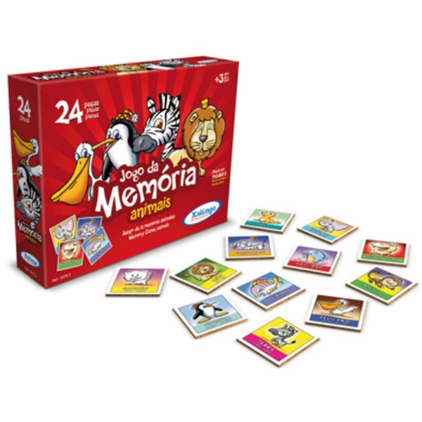 Jogo Da Memória Animais 24 peças - Xalingo