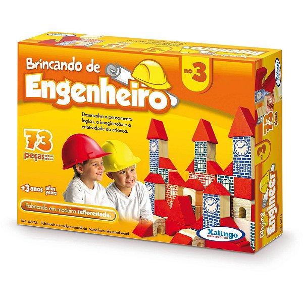 Brinquedo Pedagógico Brincando De Engenheiro 73 Peças - Xalingo