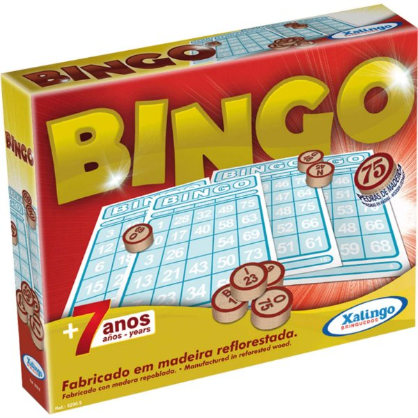 Jogo De  Bingo Pedras De Madeira - Xalingo