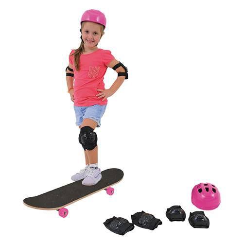 Skate Radical Girls Com Lixa e Acessórios Xalingo