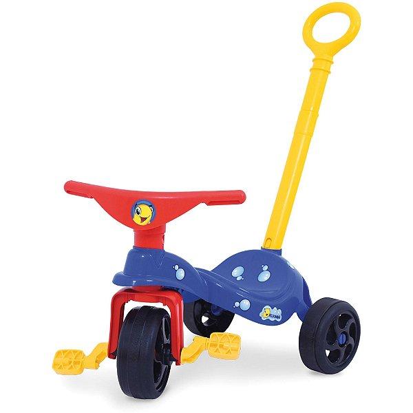 Triciclo Infantil Peixinho C/ Empurrador Xalingo