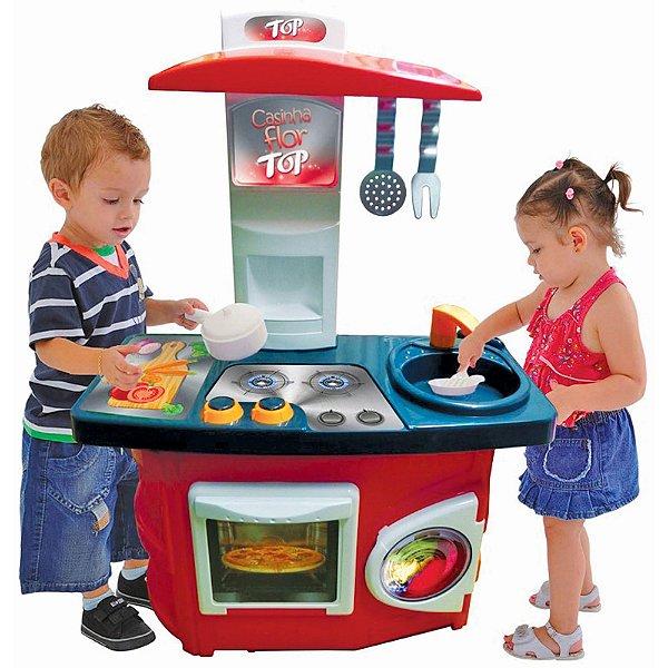 Brinquedo Cozinha Infantil Top Casinha Flor - Xalingo