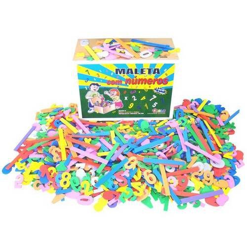 Maleta Com 1000 Números Em EVA Brinquedo Educativo - Carlu