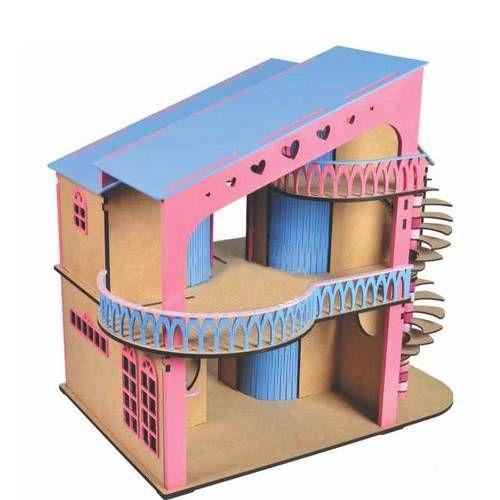 Casinha De Boneca De Madeira NewArt - Modelo 1