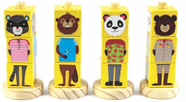 Coleção Cubos Animais Amarelo-NewArt Toys