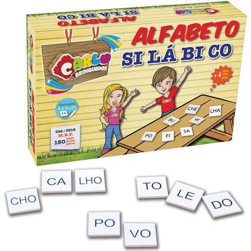 Brinquedo Pedagógico Alfabeto Silabico 150 Pçs - Carlu