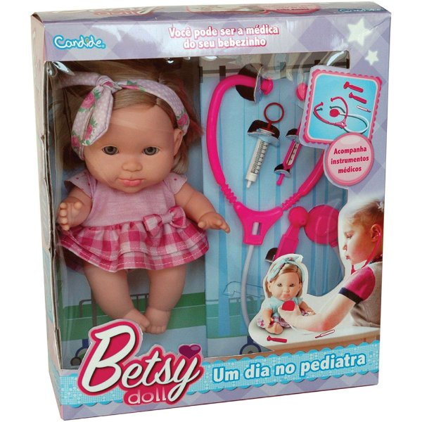 Boneca Best Doll Pediatra C/Acessor. Candide