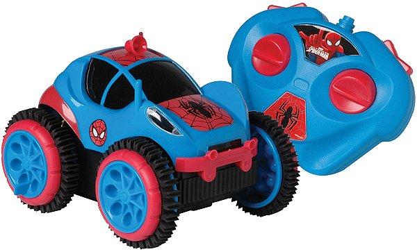 Carro Spider Man C/ Remoto Spider Flip Candide