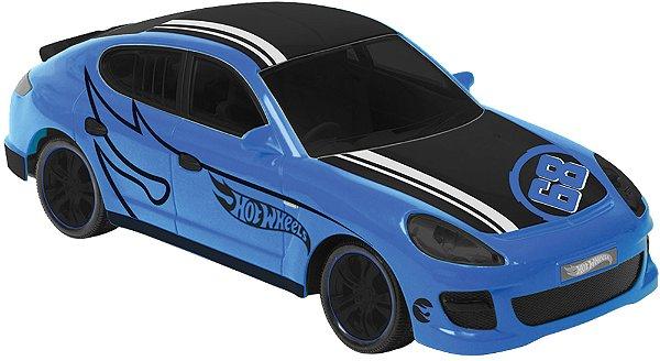 Carro Com Controle Hot Wheels Rocket Azul 3f Candide