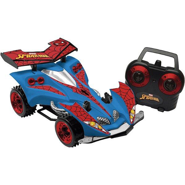 Carro Spider-Man Web Racer 7 funções Candide