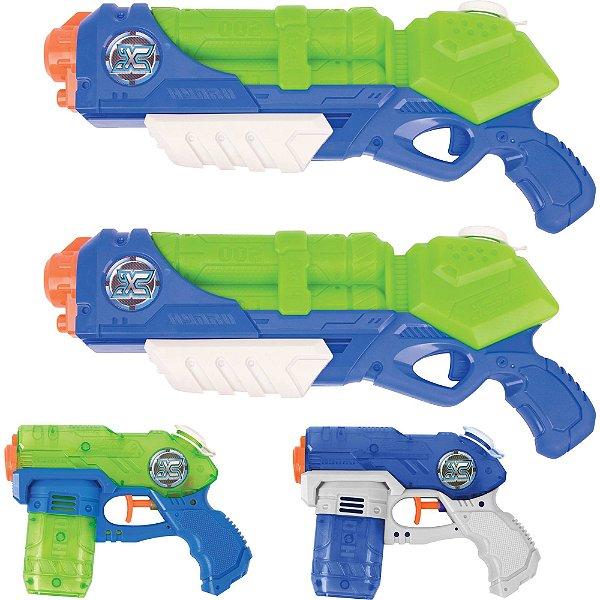 Conjunto Lançadores De Água - X-shot - Hydro Series - Value Pack - Tormenta E Maremoto - Candide