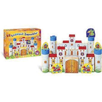 Blocos De Montar Madeira Castelo Encantado 64 pçs - Brincadeira de Criança