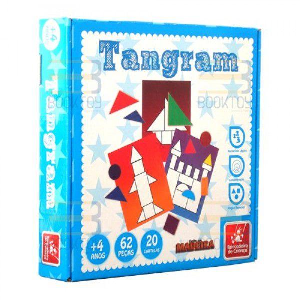 Brinquedo Pedagógico Tangram 62 pçs Madeira - Brincadeira de Criança
