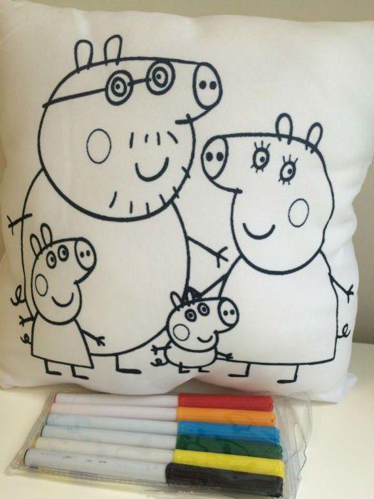 Mini Almofada Para colorir Pinte e Lave
