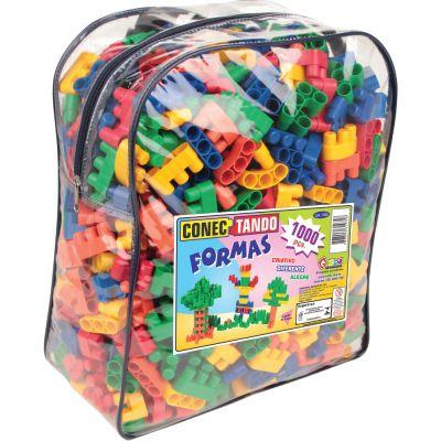 Brinquedo de Encaixe Conectando Formas 1.000 Peças - Carlu