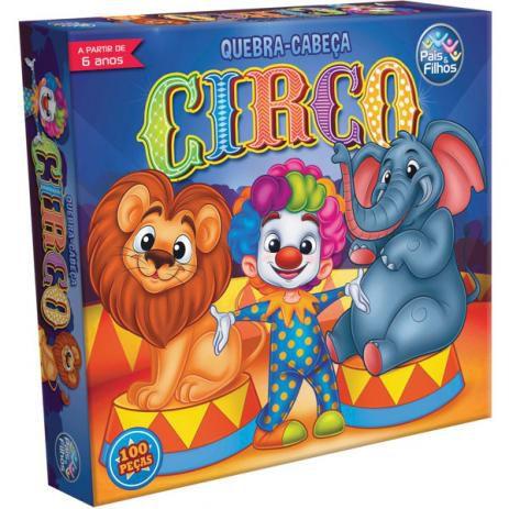 Jogo Quebra-Cabeça Cartonado O Circo 100 Pçs - Pais e Filhos