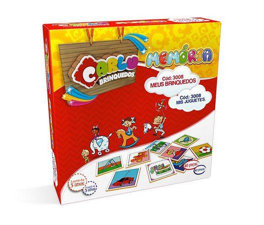 Memória Meus Brinquedos - MDF - 40 Pçs