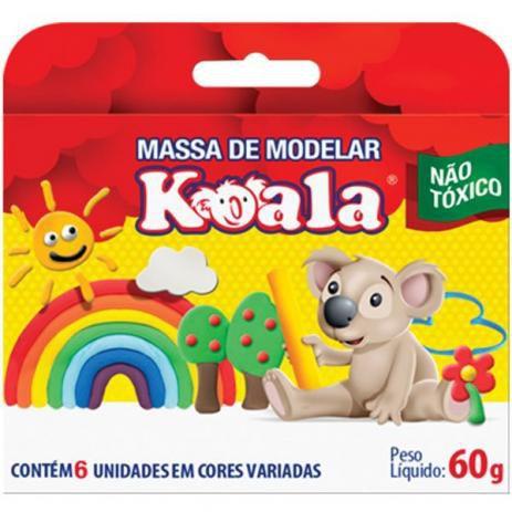 MASSA DE MODELAR KOALA C/ 06 CORES PCT.C/12 - DELTA