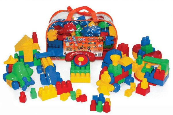 Conjunto Quebra Cuca Com 120 peças - Mochila