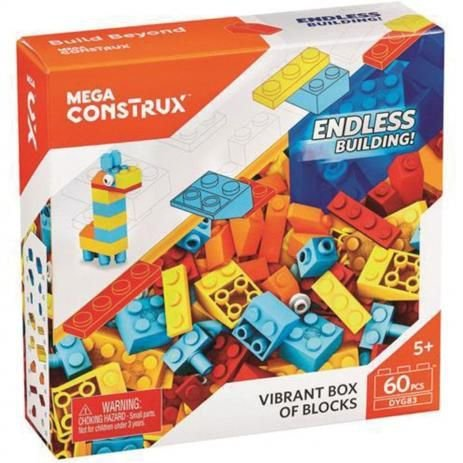Mega Bloks Caixa De Blocos Pequena Mattel Modelo Girafa