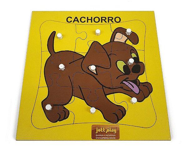 Quebra-Cabeça c/ Pinos - Cachorro com 9 pçs