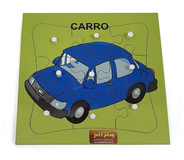 Quebra-Cabeça c/ Pinos - Carro com 9 pçs